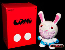 "Apocalypse Grin - Ron English 8"" Dunny Rare White Chase Variant by Kidrobot"