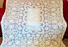 Vintage QUAKER LACE Tablecloth  72X68  CREAM COLOR MINT
