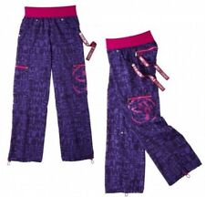 "New~ZUMBA Wear ""Shout-Out"" Cargo Dance Pants Purple Hot Pink Workout Sz Medium"