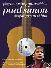Play Acoustic Guitar with Paul Simon Songbook Music Book Tabs Lyrics CD S46
