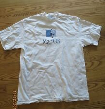 Vintage Apple White T-shirt Mac OS 1990s short sleeve six color logo GUC