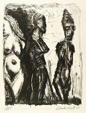 FRANK VOIGT - ZU BRECHT - VOM ERTRUNKENEN MÄDCHEN - Lithografie 1981