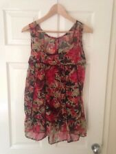 Summer Sleeveless Floral Size 8 Boho floaty top