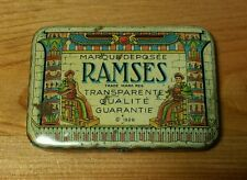 VTG 1929 ENGLISH FRENCH RAMSES CONDOMS RUBBERS TIN