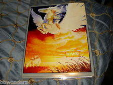 BEAUTIFUL VINTAGE LEVI'S JEANS GIRL ON PEGASUS POSTER 1983 LEVI STRAUSS & CO.
