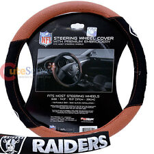 Oakland Raiders Steering Wheel Cover Pro Mark NFL Auto Accesories Football Grip