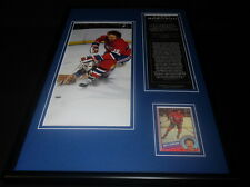 Larry Robinson Signed Framed 12x18 Photo Display Canadiens