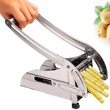 STAINLESS STEEL POTATO CHIP FRENCH FRIES MAKER CUTTER SLICER CHIPPER CHOPPER HOT