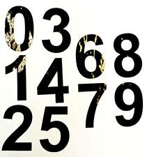 """3"""" HIGH BLACK ADHESIVE NUMBERS  x 10 0-9 1 OF EACH NUMBER indoor/outdoor use"""