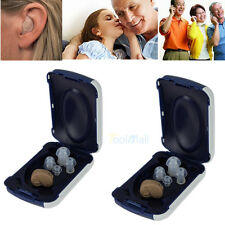 2 X Small In The Ear Invisible Best Sound Amplifier Adjustable Hearing Aids US
