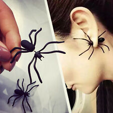 1pc Punk Earring Funny Style Weird Design Vogue Black Spider Special Shape