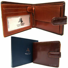 Mens Leather Wallet Brown New in Gift Box Visconti Luxury Quality Style TR35