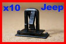 10 Chrysler Jeep Wrangler Liberty Cherokee Fender Parachoques Clips Sujetador del panel