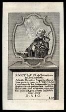 santino incisione 1700 S.NICOLA DA TOLENTINO