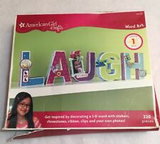 American Girl Crafts Word Art LAUGH Decorate 3D Word Room Decoration