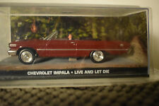 JAMES BOND CARS COLLECTION IN BLISTER CHEVROLET IMPALA LIVE AND LET DIE
