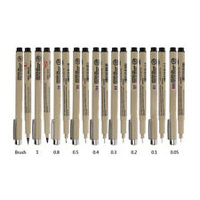 9X Pigma Manga Comic Pro Graphic Markers Drawing Fine Point Ink Pens Brush Kit S