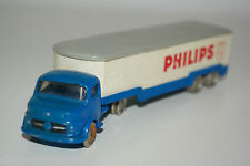LEGO 1/87 MERCEDES BENZ TRUCK WITH TRAILER PHILIPS NEAR MINT RARE SELTEN RARO
