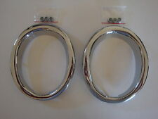 1965-66 Ford Mustang GT Exhaust Trim Rings NEW Pair!!