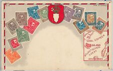 53145  - ICELAND  - VINTAGE POSTCARD   - STAMPS ON POSTCARD : ZIEHER