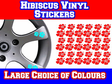 Hibiscus Flower Alloy Wheel Sticker Decals VW Camper Transporter T4 T5 T25 Bongo