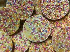 40 Giant White Chocolate Jazzies / Snowies x 40 White Rainbow Drops