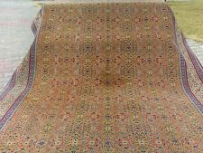 "Muted Dyes Ca1900-1939s Antique 6'9""×9'6"" Wool Pile Turkish Hereke Rug"