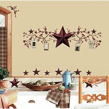 RoomMates RMK1276SCS Country Stars and Berries Peel & Stick (40 Count) AOI