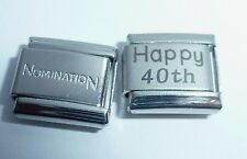 HAPPY 40th 9mm Italian Charm + 1x Nomination Classic Link BIRTHDAY ANNIVERSARY