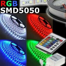 TIRA LED ADHESIVO SMD LUZ MULTICOLOR SMD5050 BOBINA 5 MT 300 LED RGB IP65