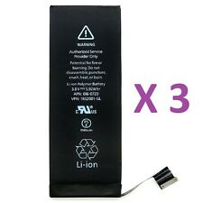 Lot of 3 New 1560 mAh Li-ion Internal Battery Replacement for Apple iPhone 5S 5C