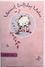 Warmest Birthday wishes just for you card, female, kitten theme, brand new