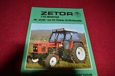 Zetor 7711 Tractor 30 years in Germany Dealer's Brochure LCOH