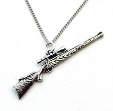 Collar de caza rifle en bien Inglés Peltre, hechos a mano y en caja de regalo (TSH)