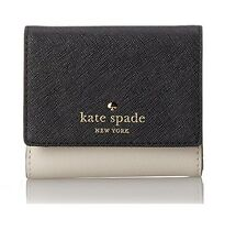 NWT Kate Spade New York Cameron Stree Tavy Small Wallet PWRU5092 in Black/Pebble