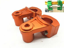 1 Piece CNC HandleBar Fat Bar Mount Clamp Risers Adaptor 28mm Motorcycle Orange