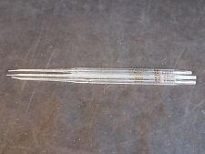 REUSABLE GLASS VOLUMETRIC PIPETTE set of 3 H.E PEDERSEN 10, 25,40 CMM angled tip
