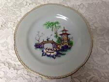 Vintage, Rare, New Chelsea, England, Gaudy Blue Willow, 9.5in Plate
