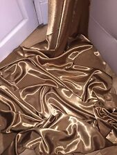 """3 MTR NEW ANTIQUE GOLD SATIN LINING FABRIC...45"""" WIDE"""