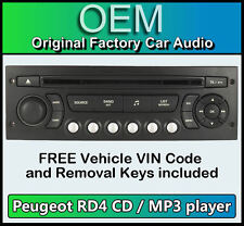 Peugeot 307 car stereo MP3 CD player Peugeot RD4 radio + FREE Vin Code and keys