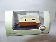 Oxford 76CV003 CV003 1/76 OO Scale Caravan Brown & Cream with 5 Hooks