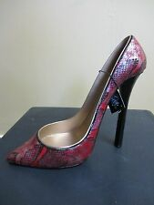 Stylish & Sexy Red Snakeskin Women's High Heel Shoe Wine Bottle Holder