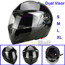 DOT Carbon Fiber Modular Flip Up Dual Visor Full Face Motorcycle Helmet S M L XL