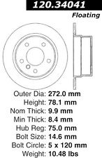 Disc Brake Rotor-High Performance Slotted Centric fits 95-99 BMW 318ti
