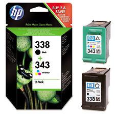 HP SD449EE - LOT de cartouches HP 338 et HP 343 noir et couleur