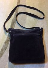 SAKS FIFTH AVENUE Crossbody Bag  Brown Suede Shoulder Bag Soft Purse Made Italy