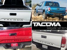 BLACK TOYOTA TACOMA 16 TAILGATE LETTERS NOT DECALS TAILGATE REAR INSERTS 2016