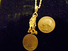 bling gold plated SAINT LAZARUS PATRON ST. pendant charm chain hip hop necklace