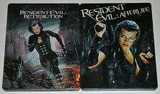 Horror Blu-ray Lot - Resident Evil Afterlife & Retribution (Used) Steelbooks