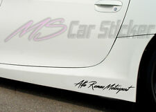 Alfa Romeo Motorsport auto pegatinas sticker Sports Mind KFZ Limited Edition
